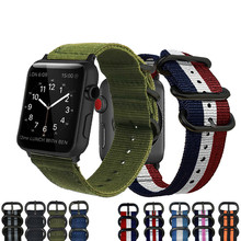 Hot Sell Nylon Watchband for Apple Watch Band Series 3/2/1 Sport Leather Bracelet 42 38 mm Strap For iwatch eastar plastic protective case shockproof watchband for apple watch series 3 2 1 sport 42 mm 38 mm strap for iwatch band