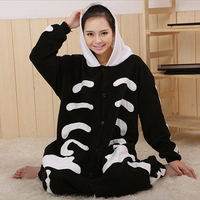 Special Price Women S Skeleton Footed Pyjamas For Adults Full Sleeve Polyester Sleep Lounge Onesies Unicorn