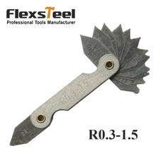 R0.3-1.5mm Pocket Measure Tool R Gauge Radius Gauge Gage Replacement Measuring & Gauging Tools