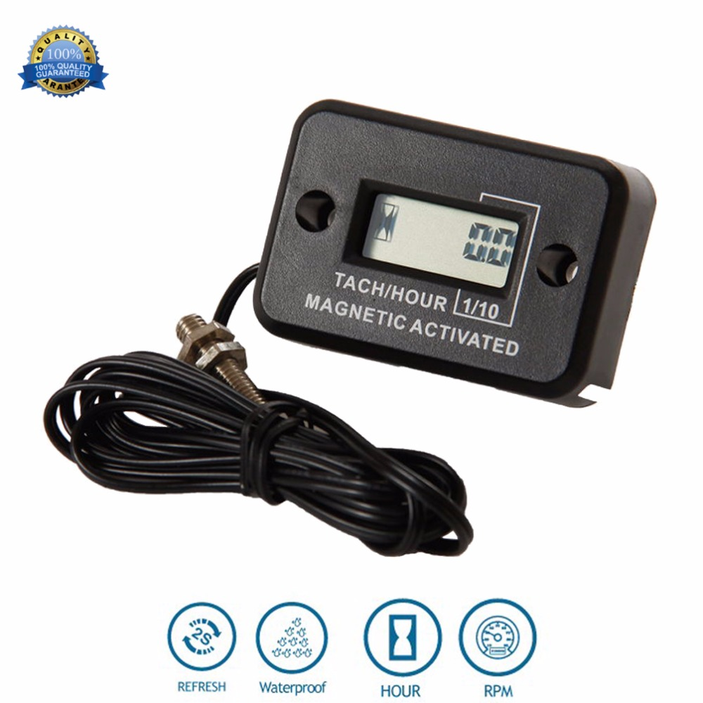 hight resolution of digital diesel engine hour meter tachometer for water pump mining machinery drill mixer generator excavator roller mast crane