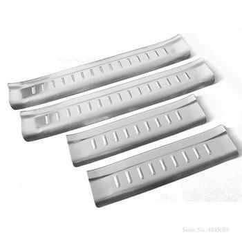Protector de puerta interior de acero inoxidable para Pedal, placa de umbral, cubierta de protección para Hyundai Santafe Santa Fe 2010- 2012