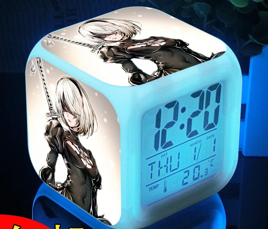 Japanese Anime Hunter x Hunter 7 Color Change Digital Alarm Clock Time clock