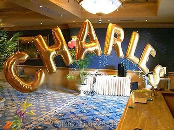 aliexpresscom buy party supplies number letter alphabet balloons giant helium size 40inch golden color silver color choice 20 pieceslot wholesale from