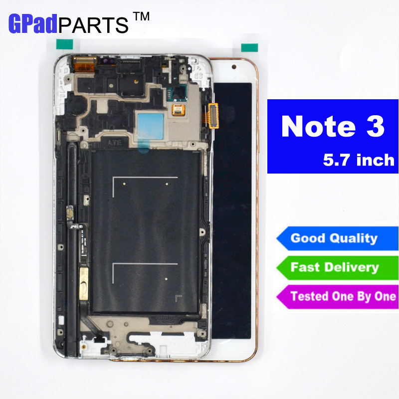 Подробнее о N9005 lcd with Frame For Samsung Galaxy note 3 n9005 LCD Screen Display with Touch digitizer Full assembly Gold white grey lcd screen for samsung galaxy note 2 n7100 lcd display touch screen digitizer assembly with frame gift screen protectors