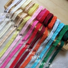 Top Grade 1.1cm 10Meters Small Lace Trim / Underwear Elastic Stretch Lace Trimmings/ Diy Sewing Garment Trims Z249