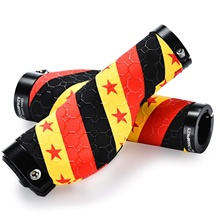Champkey Road Mountain Bike Handlebar Grips Anti-Slip Silicone Textured Surface with Carbon Fiber Material