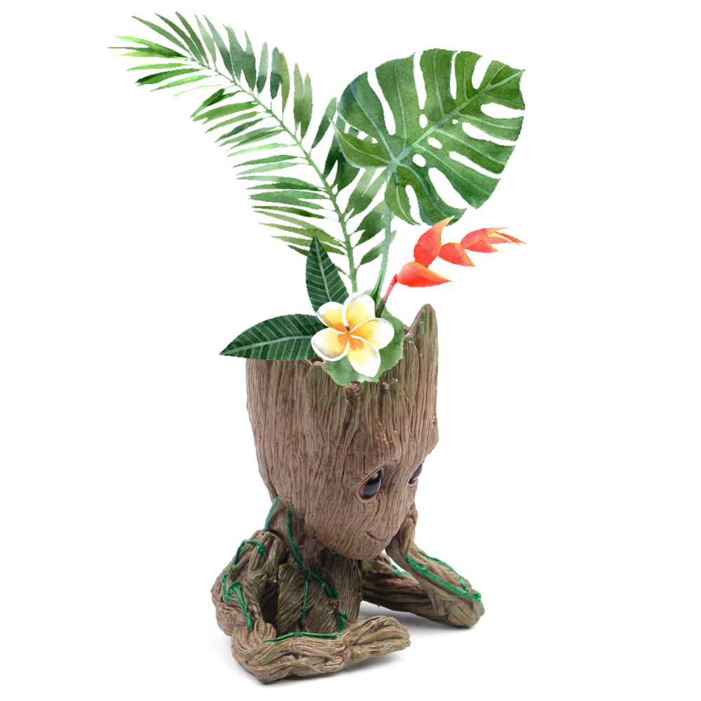 Us 793 49 Offpół Ciała Stojak Kwiat Garnki Baby Groot Doniczka Figurki Drzewo Człowiek ładny Model Długopis Ogród Sadzarka Do Kwiatów Zabawki W