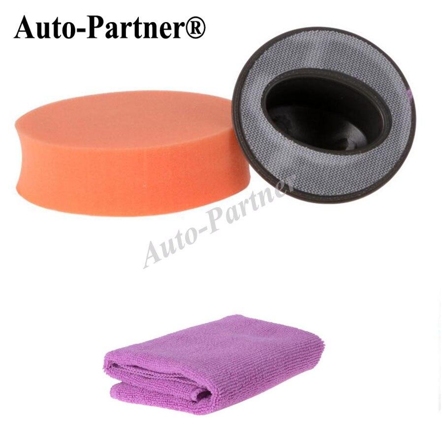Car Polisher Pad Kit Handle Foam Waxing+Sponge+Towel Gross