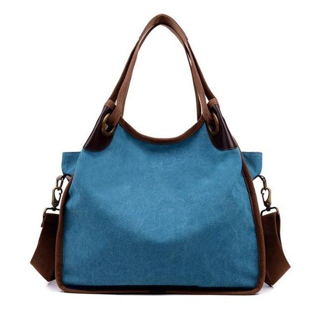 27817697697a8 Kobiety torba moda płótno solidna vintage vogue klasyczne młodzieży  dziewczyna dorywczo dużego ciężaru torebki torba na