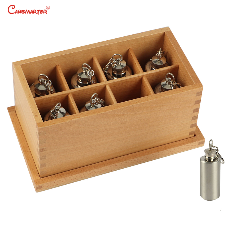 Temperature Bottles Sensory Skill Toys Montessori Daily Life Practice Boxs Beech Wood Toy Children Educational Games SE026-36