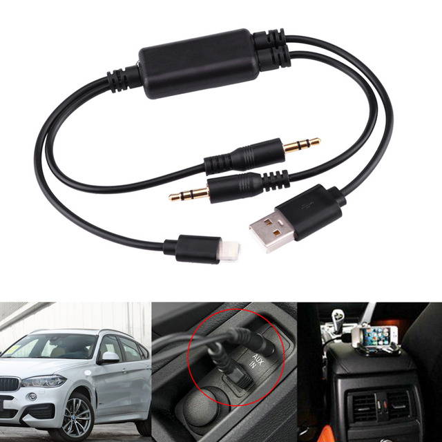 auto styling auto aux kabel usb 3 5 mm aux adapter. Black Bedroom Furniture Sets. Home Design Ideas