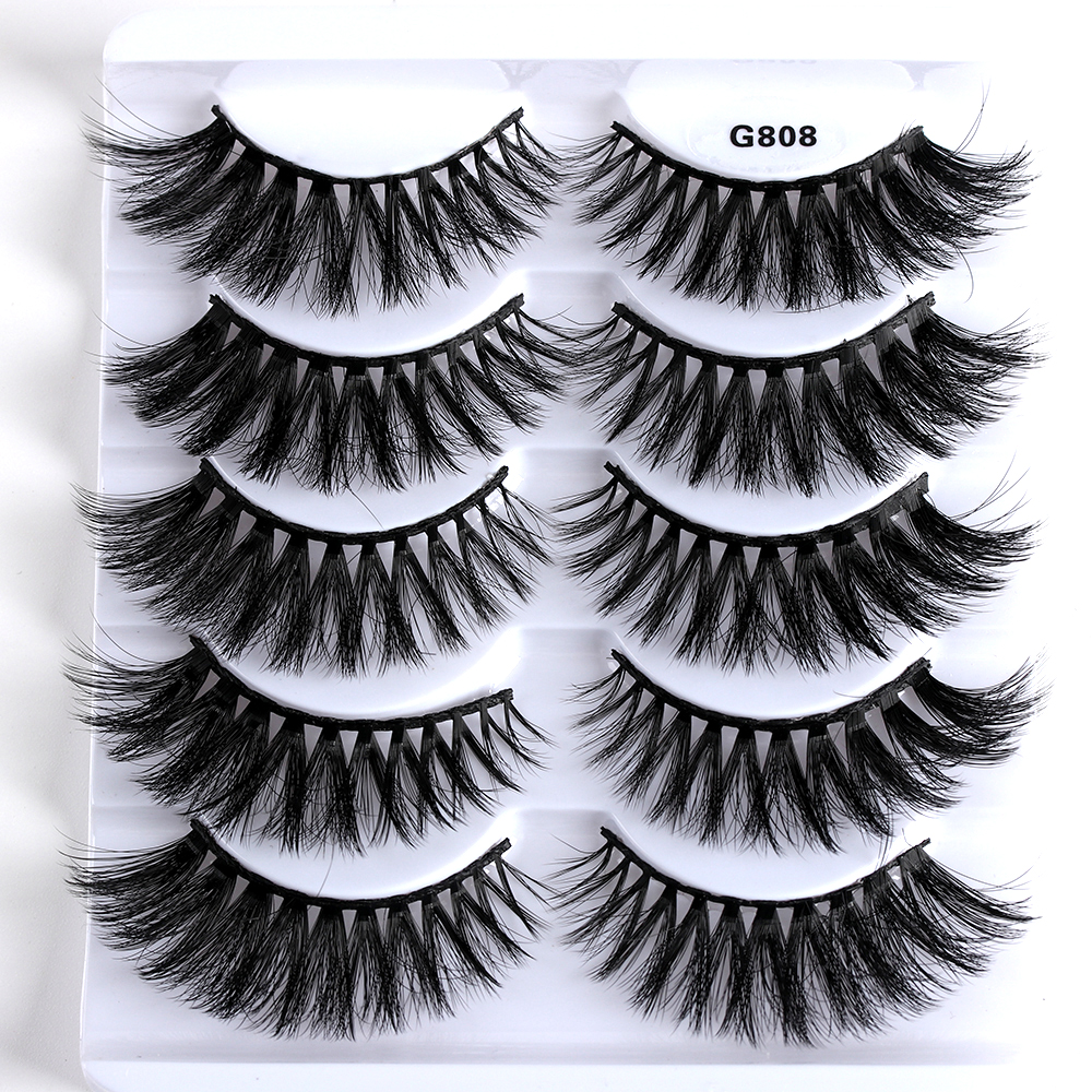 Beauty & Health False Eyelashes 5pairs/set G808 3d Mink Hair Natural Long False Eyelashes Wispy Cross Eye Extension Lashes Beauty Makeup Tools
