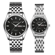 1 пара, новинка, брендовые роскошные часы для влюбленных, часы с датой недели, мужские и женские часы, кварцевые наручные часы для пар, Relogio Feminino, подарочная коробка