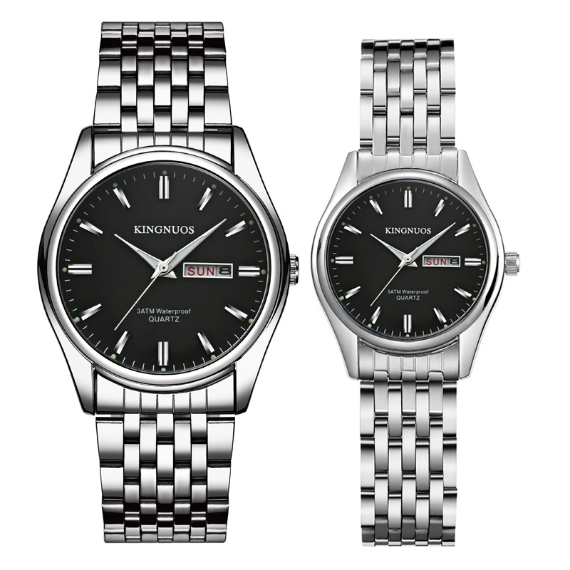 1 Pair 2019 New Brand Luxury Lover Watches Week Date Watch Men Women Watches Quartz Couples Wristwatch Relogio Feminino Gift Box