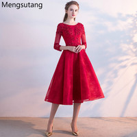 Robe de soiree 2017 Wine red & Red Lace up evening dresses Vestido de Festa luxury beading party dress tailor Custom made