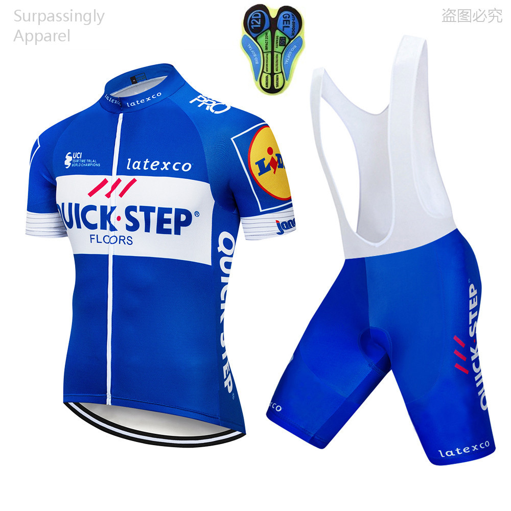 цена на 2018 Pro Team Men BLUE STEP Cycling Jersey Set MTB Clothes Quick Dry Bicycle Summer Sportswear Bike Jersey Cycling Ropa Ciclismo