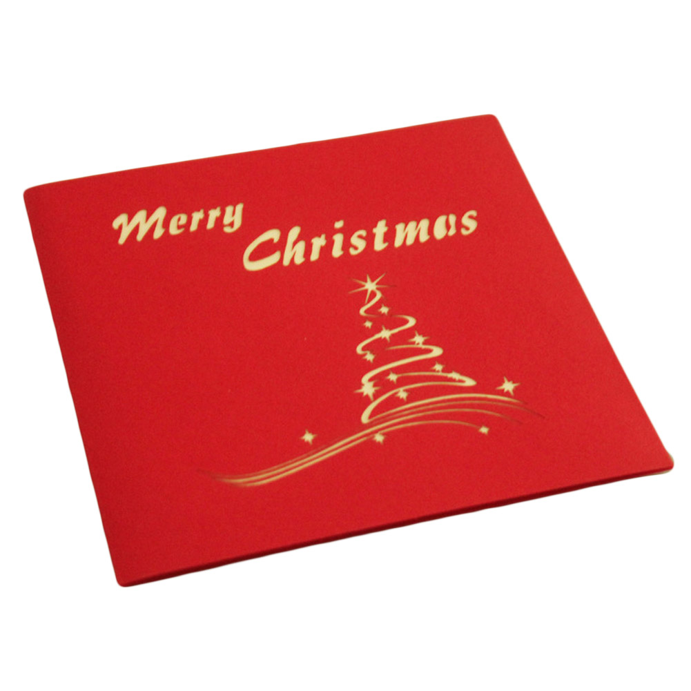 Online buy wholesale popping card christmas tree from china popping new merry christmas tree vintage 3d laser cut pop up paper handmade custom greeting cards christmas kristyandbryce Gallery