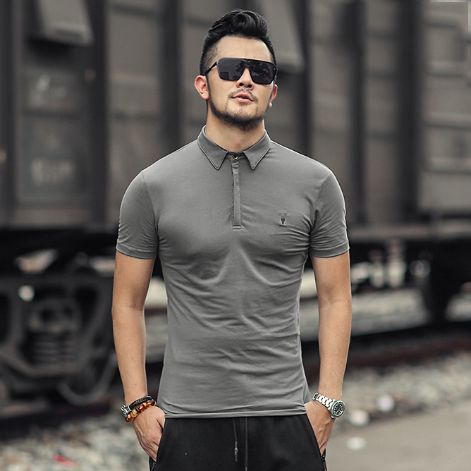 Image 2 - Brand Mens Business Polo Shirts Men Desiger Polos Men Cotton Short Sleeve shirt Clothes Summer Polos SolidPolo