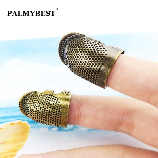 Antique Hard Metal Brass Sewing Thimble Needles Partner Finger Protector DIY Sewing Tools