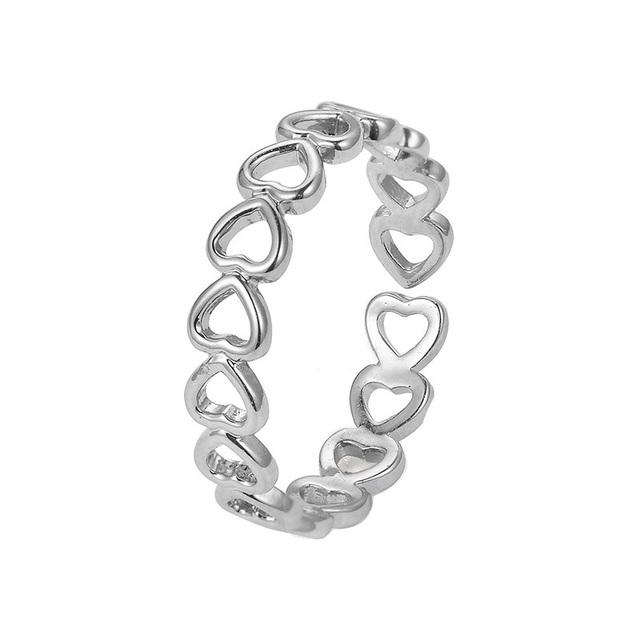 Women's Zinc Alloy Heart Shaped Ring