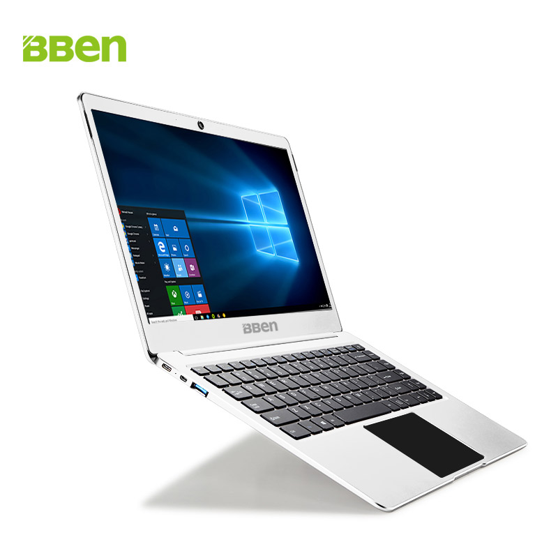 Bben Metal Aluminum Laptop 14Inch Windows 10 Notebook Computer 1920x1080FHD Intel Apollo N3450 Ultrabook 4G RAM+64G Emmc M.2 SSD 14 inch laptop computer 4gb ram