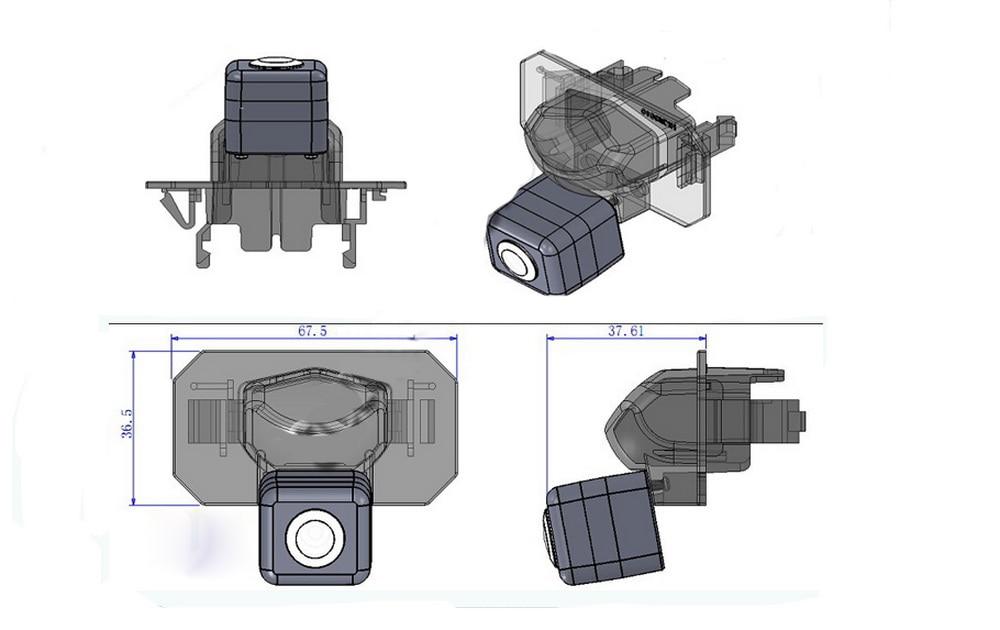 Камеру высокого качества резервного обратного автомобиля reaview камеру CCD HD проводной автомобиль парковочная камера заднего вида для Honda CRV ...
