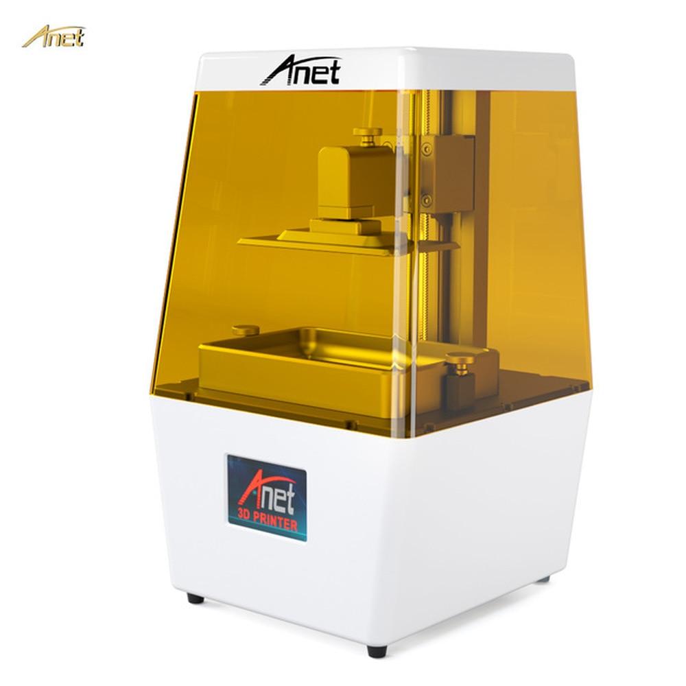 Anet N4 LCD SLA 3D Imprimante 60 w Entièrement Assemblé L'innovation 2 k HD 3.5 pouce Écran Tactile Hors-ligne imprimer Impressora UV 405nm résine