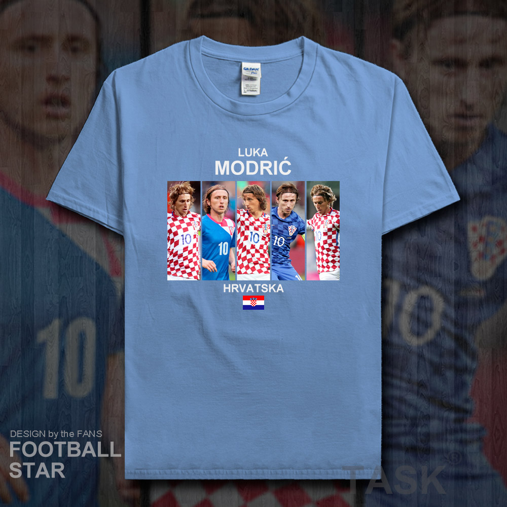 best service 2ada9 a54ef US $5.99 |Luka Modric t shirt men jerseys Croatia footballer star brand  Real tshirt cotton fitness t shirts printed clothes Madrid tees 20-in  T-Shirts ...