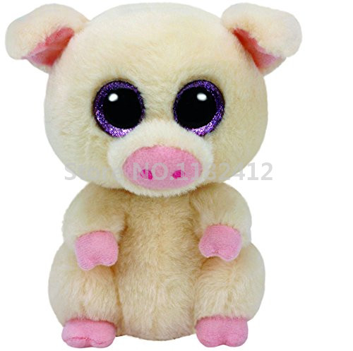 beanie piggley the pig plush toy cute stuffed animals with big eyes 15cm 6 39 39 soft toys for. Black Bedroom Furniture Sets. Home Design Ideas