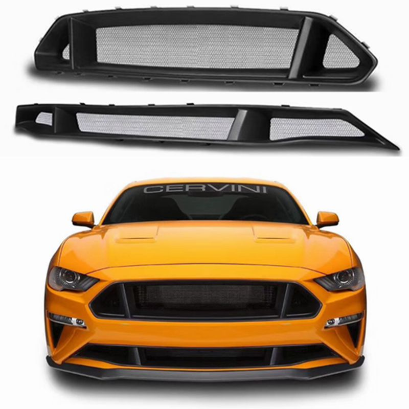 2018 For Ford Mustang Primer Car Fiberglass Car Front Bumper Net Grille Радиаторная решётка