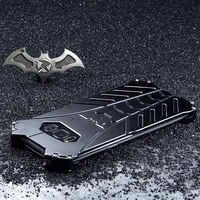 Batman Rugged Outdoor Metal Aluminum Shockproof Anti-Scratch Kickstand Case Cover Frame for Samsung Galaxy S8 S9 S10 Plus S10E