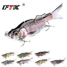 FTK Fishing Lure 1pc Wobbler Hook Tackle Swim Bait 5 Segment 165mm/54g Assorted Bass Floating Hard Sinking Topwater Crankbait HF