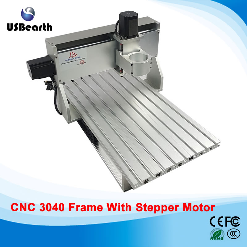 DIY cnc frame with stepper motor and ball screw for 3040 cnc router milling machine, EU no tax new design 3040 cnc frame cnc 3040 mini lathe free tax to ru eu