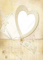 Vintage Heart Frame Pearl Photo Backdrop High Grade Vinyl Silk Cloth Computer Printed Wedding Backdrop Photography