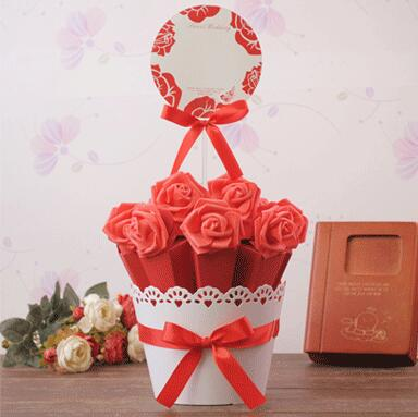 PASAYIONE Gift Candy Boxes Wedding Party Favor With Flower Candy Box Decoration For Party Weeding Souvenirs Mariage Supplies