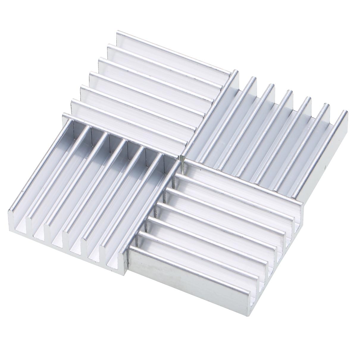 10pcs Heat Sink 20mm*20mm*6mm Mayitr Aluminum Heatsink Radiator for IC MOSFET SCR Power Transistor Voltage Regulator szytf 5pcs to 247 heatsink audio heatsink transistor heat sink block 38 34 12mm