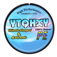 YTQHXY 100M 4 Strands Super Strong PE Braided Fishing Line 10LB 80LB Japan Multifilament 100% PE Carp Fishing YE-392