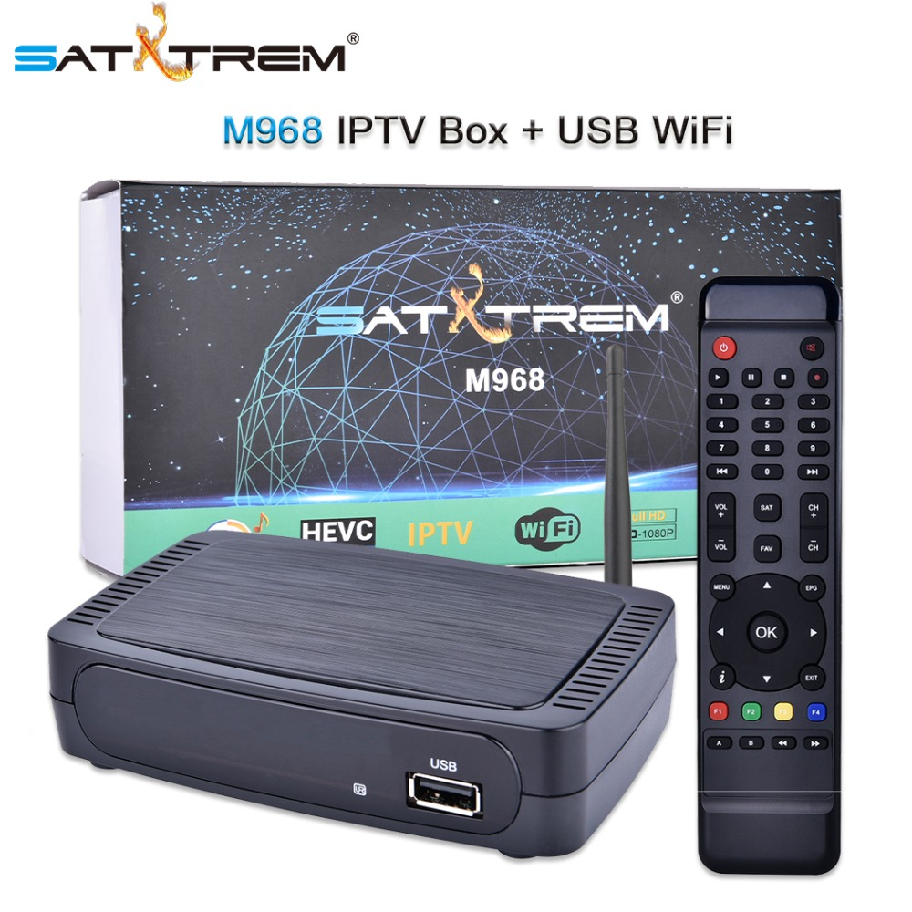 Satxtrem M968 IPTV HD Set Top Box OTT Internet TV Boîte Mag Boîte H.265 1080 p + USB Wifi Mag250, mag254, Mag256 Harceleur Media Player