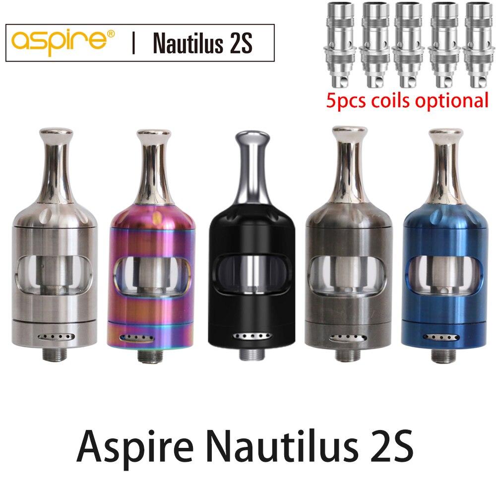 Pre-sale Aspire Nautilus 2s tank 2.6ml/2ml capacity top filling Nautilus 2s MTL tank use Nautilus bvc coils vs nautilus 2 tank цена