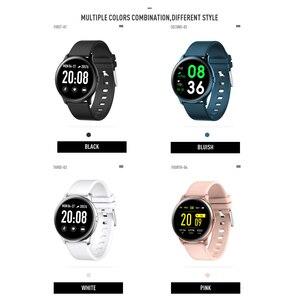 Image 5 - CYUC KW19 Pro wommen relógio inteligente tela de toque completa pressão de oxigênio no sangue esporte smartwatch homens rastreador aptidão para android IOS