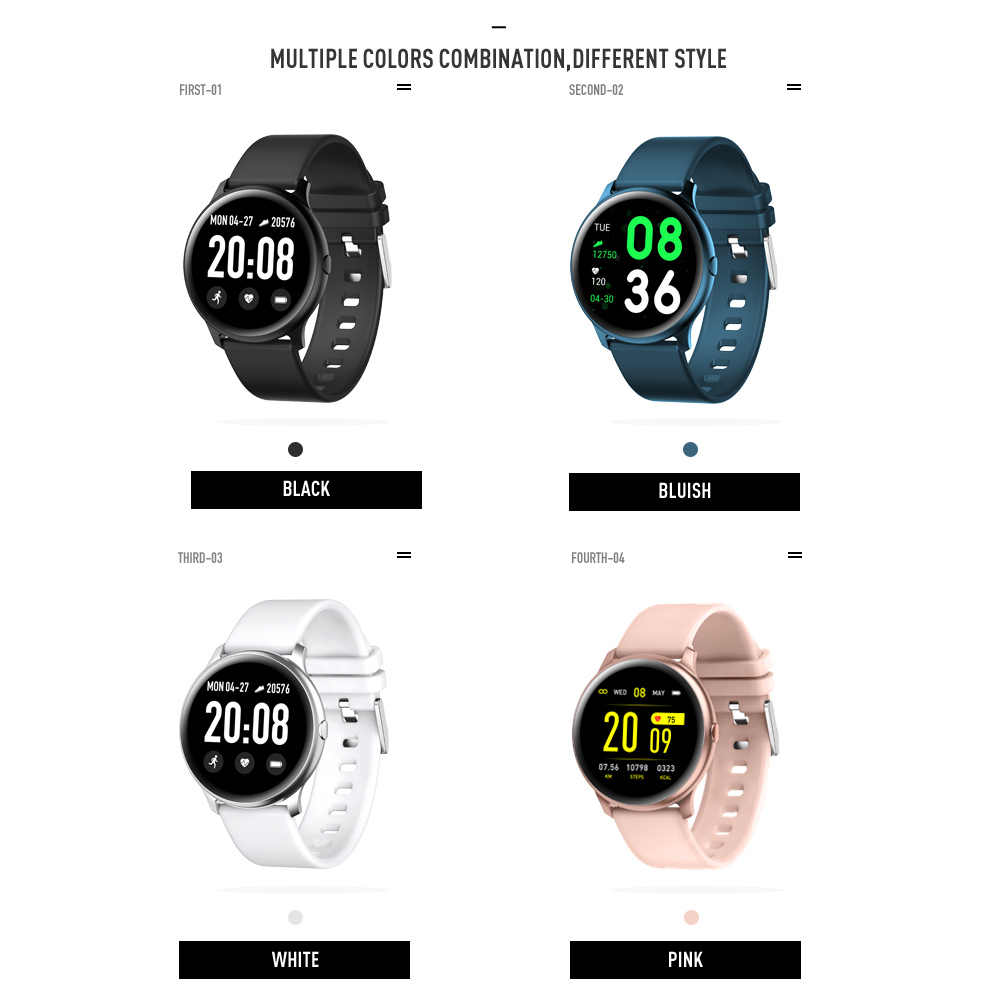 CYUC KW19 برو wommen ساعة ذكية شاشة تعمل باللمس كامل ضغط الدم الأكسجين الرياضة smartwatch الرجال تعقب اللياقة البدنية ل أندرويد IOS