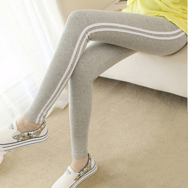 Fashion Cotton Slim fit Leggings For Female Women's Plus Size Stretch Fitness Leisure Mid Calf Ankle Length Sporting Pants