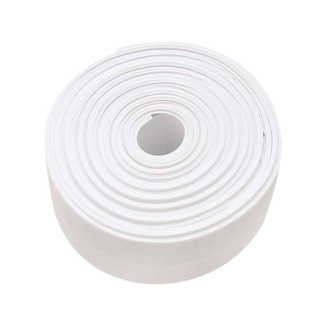 EWS-Caulk Strip, Bathroom Caulk Strips, Self Adhesive Tub Caulk Strip Wall Sealing Tape Caulk Sealer, 1-1/2 inch x 10.5 FT (38