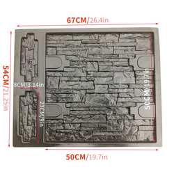 67*54*2 cm em relevo molde de pavimentação jardim decorativo caminho garagem parede pedra concreto cimento molde tijolo diy edifícios irregular
