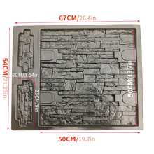 67*54*2CM Embossed Paving Mold Garden Decorative Path Driveway Wall Stone Concre