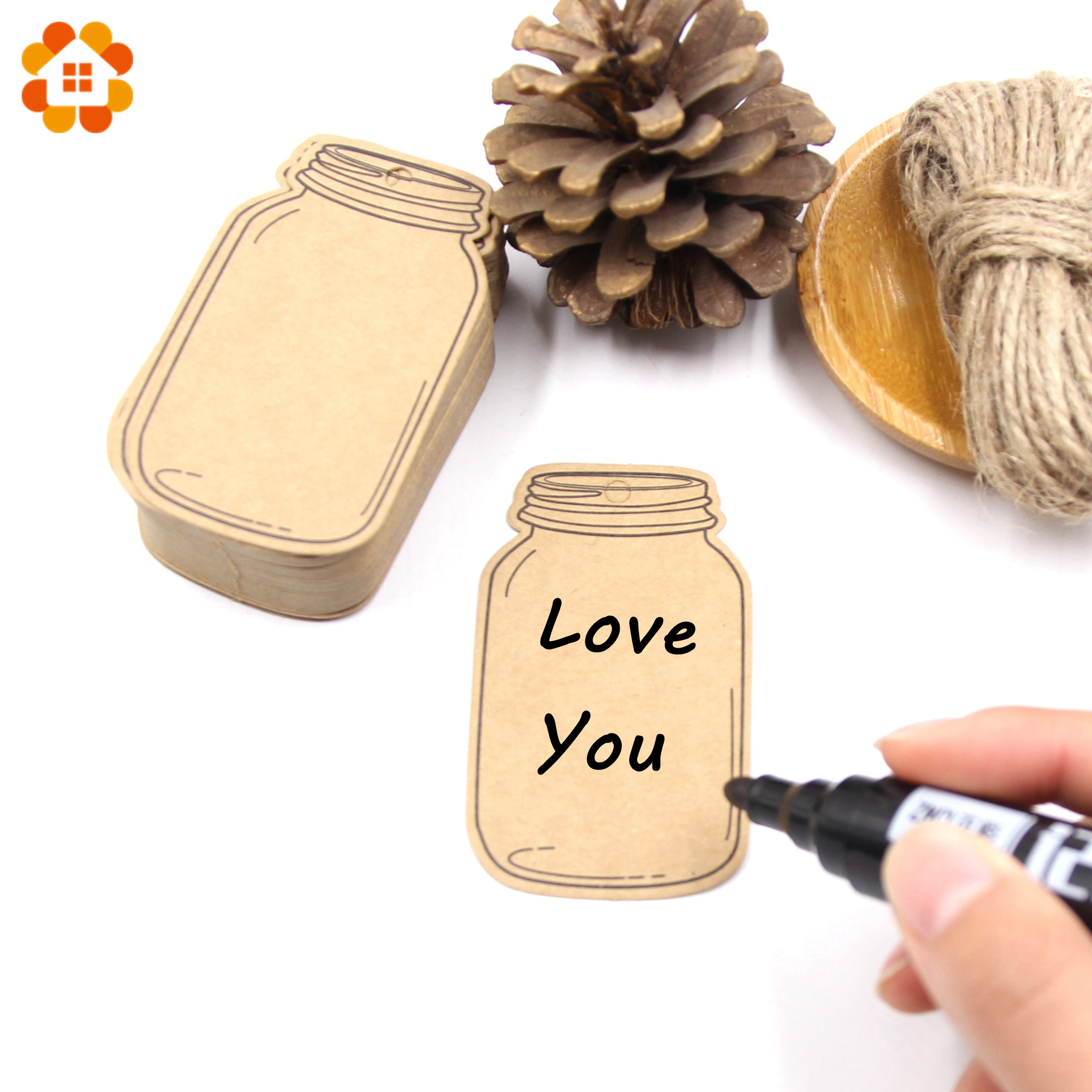 Aliexpress Buy 50PCS Bottle Paper Tags with Rope Paper Card