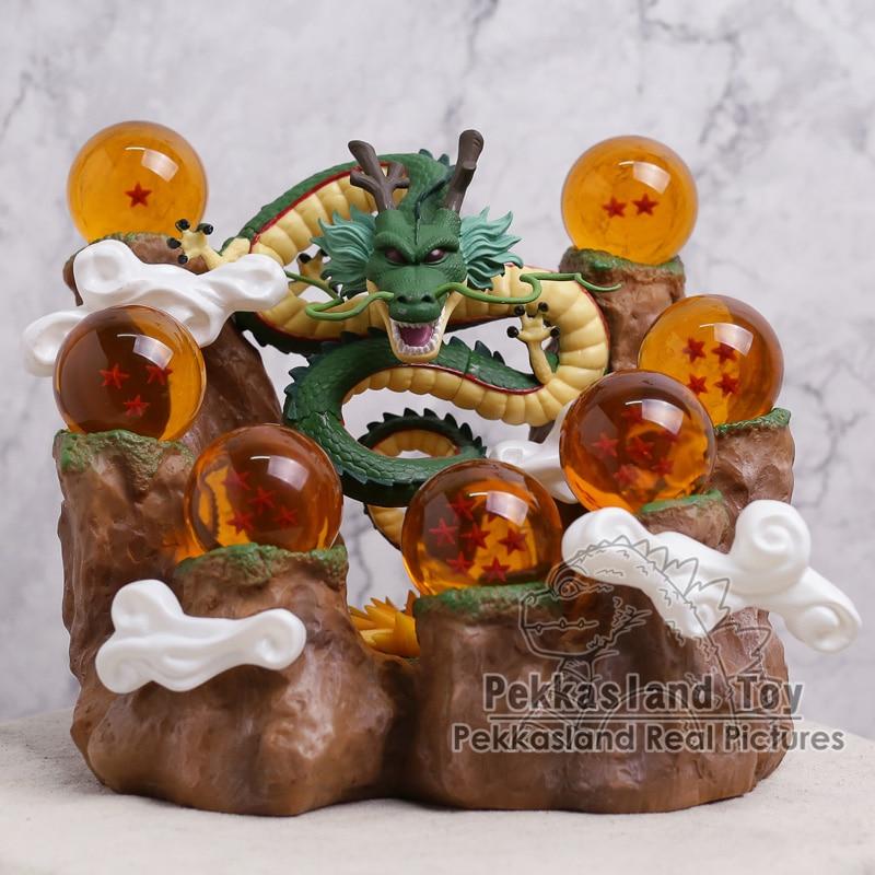 Dragon Ball Z The Dragon Shenron + Mountain Stand + 7 Crystal Balls PVC Figures Collecti ...
