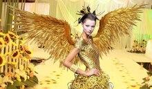 Удивительные Золотые дьявол перо Крылья для Косплэй фотографии с крыльями ангела игры Дисплей игры съемки реквизит Air Экспресс Бесплатная доставка