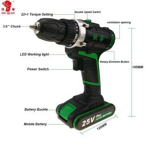 Image 2 - 25V power tools electric Drill Cordless Drill Electric Screwdriver Mini Drill electric drilling electric screwdriver EU plug