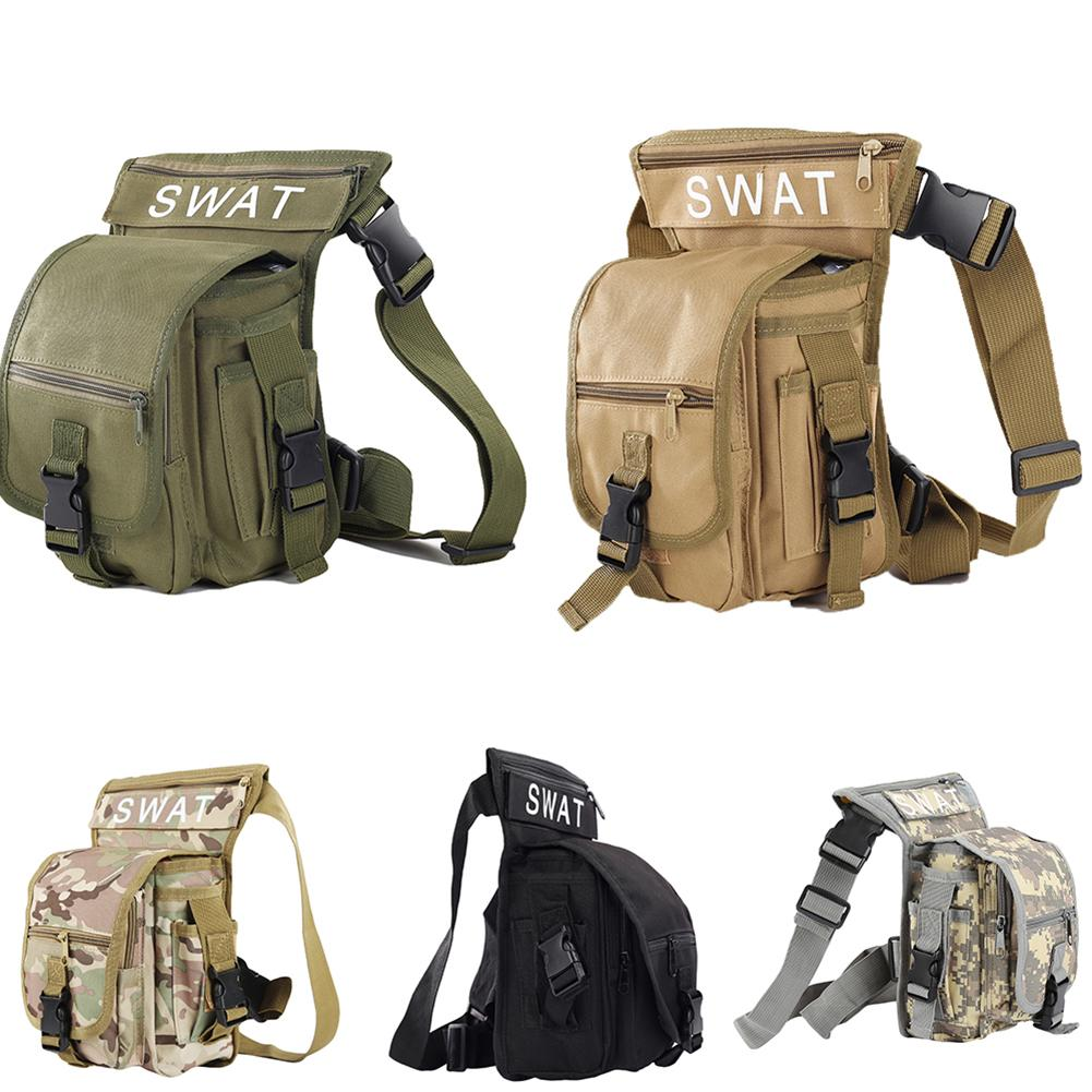 New Fashion Men   Thigh Bag Utility Waist Pack Pouch Adjustable Hiking Male Waist Hip Motorcycle Leg Bags